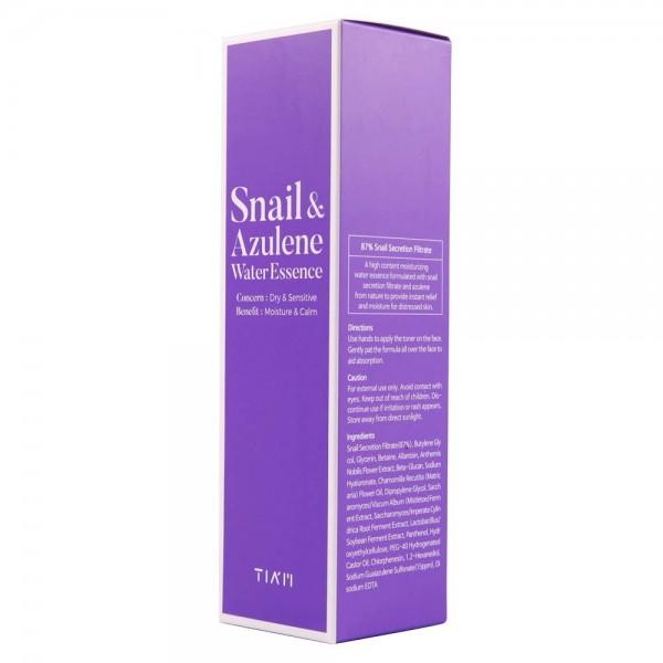 Эссенция с муцином улитки и азуленом TIAM Snail & Azulene Water Essence