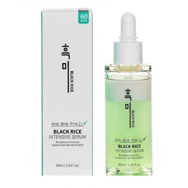 Лечебная сыворотка для проблемной кожи BLACK RICE Intensive Serum AHA-BHA-PHA21