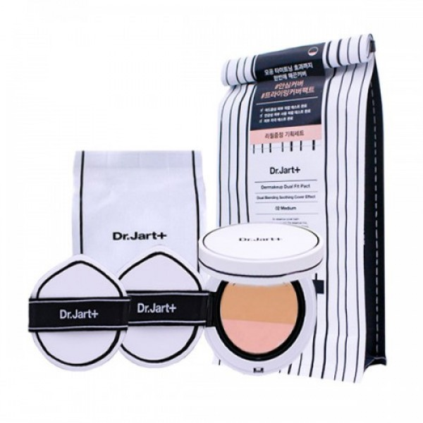 Кушон для жирной кожи Dr.Jart Dermakeup Fit Cushion SPF50+/ PA++ (02 medium)