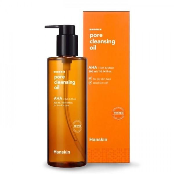 Гидрофильное масло для сухой кожи Hanskin Pore Cleansing Oil AHA 300ml