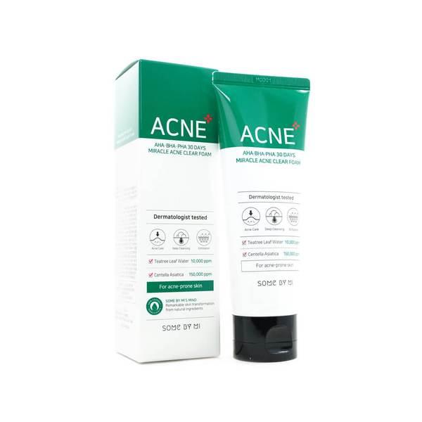 Очищающая пенка для проблемной кожи Some By Mi – AHA-BHA-PHA 30 Days Miracle Acne Clear Foam