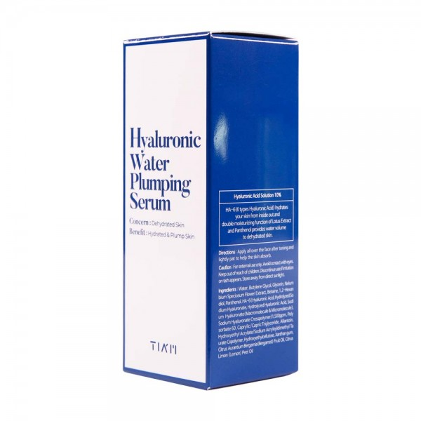 Увлажняющая сыворотка с гиалуроновой кислотой TIAM Hyaluronic Water Plumping serum 40ml