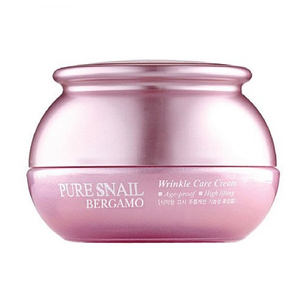 Антивозрастной крем с экстрактом муцина улитки Bergamo Pure Snail Wrinkle Care Cream